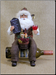 CC14-05 Wine Bottle Holder Santa