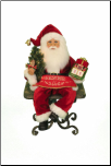CC16-170  Lighted Christmas Countdown Santa