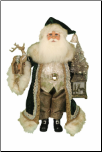 CC16-183  Lighted Woodland Emerald Santa