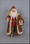 CC18-19 Wine Santa w Lighted Wreath