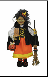 HA18-03  Candy Corn Witch