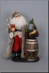 SC-14 Lighted Wine Barrel Santa