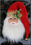 SH18-01 Santa Head Wall/Door Hanger