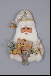 SH18-04 Cream Vintage Santa Head Wall/Door Hanger