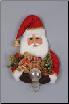 SH18-05 Red Vintage Santa Head Wall/Door Hanger