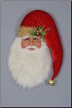 SH30-02 Traditional Santa Head Wall/Door Hanger