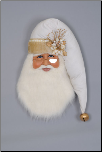 SH30-03 White Christmas Santa Head Wall/Door Hanger