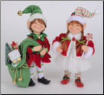 CC09-11 Special Delivery Girl and Boy Elf Set