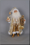 CC16-142 Lighted Golden Glimmer Santa with R