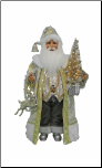 CC16-160 Lighted Silver - Gold Santa