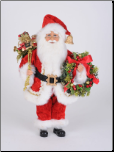 CC16-213 Lightd Berry Wreath Santa