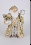 CC16-233 Lighted Touch of Gold Santa