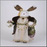 SP007 Green Victorian Bunny Rabbit