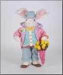 SP043 Floral Umbrella Bunny