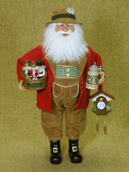 Quot tall traditional german santa is holding beer stein